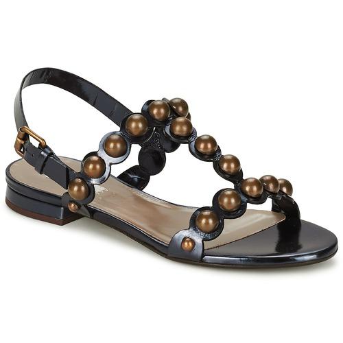 Παπούτσια Γυναίκα Σανδάλια / Πέδιλα Marc Jacobs Vegetal Black