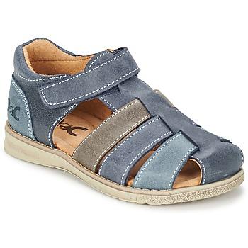 Παπούτσια Αγόρι Σανδάλια / Πέδιλα Citrouille et Compagnie ZIDOU Marine / Grey