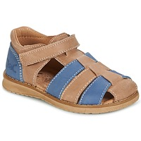 Παπούτσια Αγόρι Σανδάλια / Πέδιλα Citrouille et Compagnie FRINOUI Brown / μπλέ