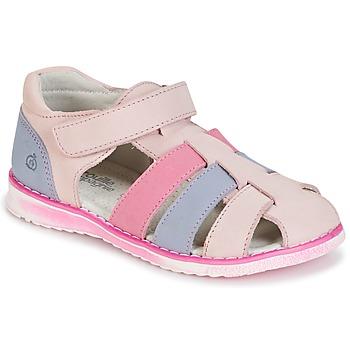 Παπούτσια Κορίτσι Σανδάλια / Πέδιλα Citrouille et Compagnie FRINOUI Ροζ / Μπλέ /  clair / Fuschia