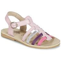 Παπούτσια Κορίτσι Σανδάλια / Πέδιλα Citrouille et Compagnie JASMA ροζ / Violet