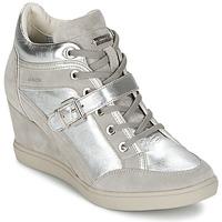 Παπούτσια Γυναίκα Ψηλά Sneakers Geox ELENI C Argenté
