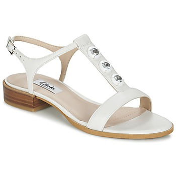 Παπούτσια Γυναίκα Σανδάλια / Πέδιλα Clarks BLISS SHIMMER άσπρο