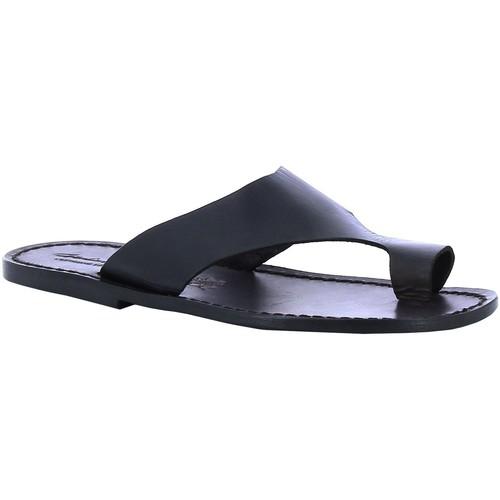 Παπούτσια Άνδρας σαγιονάρες Gianluca - L'artigiano Del Cuoio 521 U NERO CUOIO nero