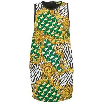 Υφασμάτινα Γυναίκα Κοντά Φορέματα Versace Jeans NDM909 BIS Black / Multicolore