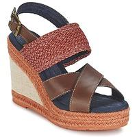 Παπούτσια Γυναίκα Σανδάλια / Πέδιλα Napapijri BELLE Brown / Fonce / Red
