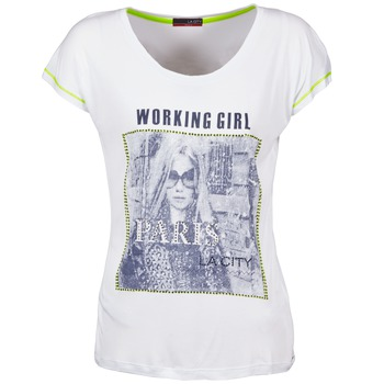 Υφασμάτινα Γυναίκα T-shirt με κοντά μανίκια La City TMCD3 Άσπρο