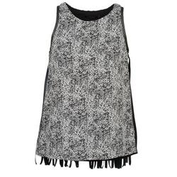 Υφασμάτινα Γυναίκα Αμάνικα / T-shirts χωρίς μανίκια Color Block PINECREST Grey / Black / Άσπρο