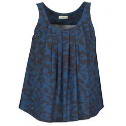 Υφασμάτινα Γυναίκα Αμάνικα / T-shirts χωρίς μανίκια Lola CUBA μπλέ / Black