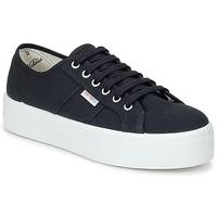 Παπούτσια Γυναίκα Χαμηλά Sneakers Victoria BLUCHER LONA PLATAFORMA Black