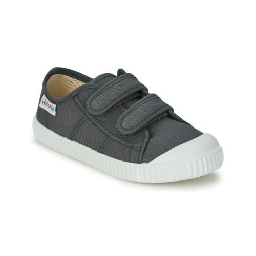 Παπούτσια Παιδί Χαμηλά Sneakers Victoria BLUCHER LONA DOS VELCROS Anthracite