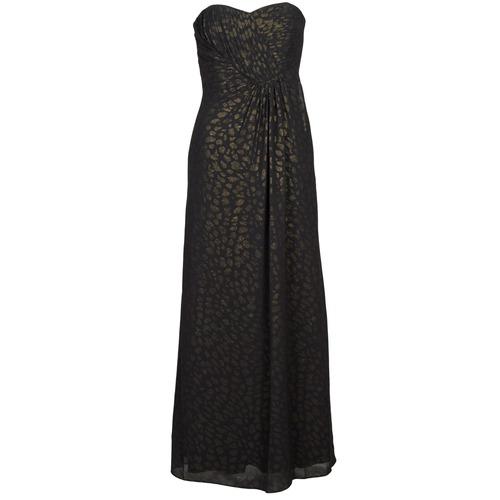 Υφασμάτινα Γυναίκα Μακριά Φορέματα Manoukian 612930 Black / Gold