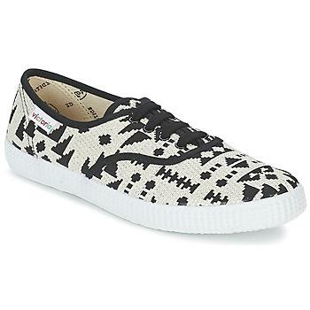 Παπούτσια Γυναίκα Χαμηλά Sneakers Victoria INGLES GEOMETRICO LUREX Beige / Black