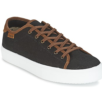 Παπούτσια Άνδρας Χαμηλά Sneakers Victoria BASKET LINO DETALLE MARRON Black / Brown