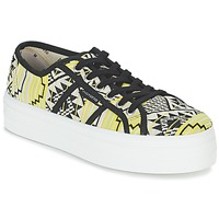 Παπούτσια Γυναίκα Χαμηλά Sneakers Victoria BASKET ETNICO PLATAFORMA Black / Yellow