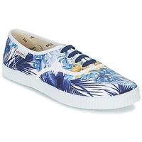 Παπούτσια Γυναίκα Χαμηλά Sneakers Victoria INGLES FLORES Y CORAZONES άσπρο / μπλέ