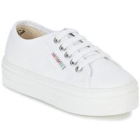Παπούτσια Κορίτσι Χαμηλά Sneakers Victoria BASKET LONA PLATAFORMA KIDS άσπρο
