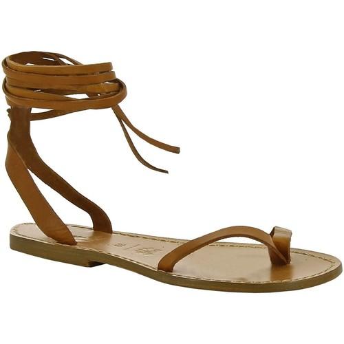 Παπούτσια Γυναίκα Σανδάλια / Πέδιλα Gianluca - L'artigiano Del Cuoio 534 D CUOIO CUOIO Cuoio