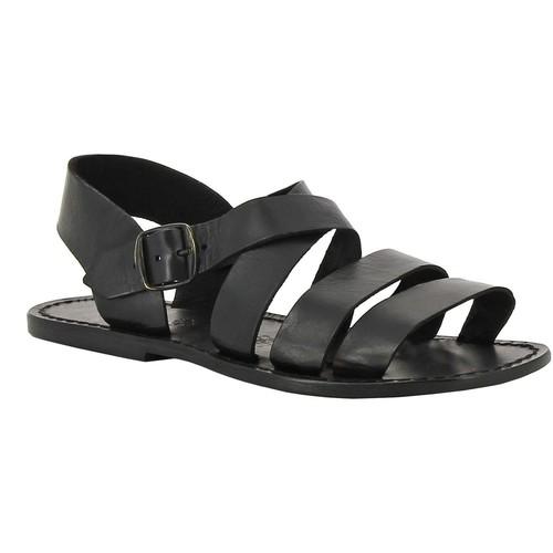 Παπούτσια Γυναίκα Σανδάλια / Πέδιλα Gianluca - L'artigiano Del Cuoio 508 U NERO CUOIO nero
