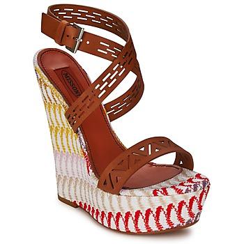 Παπούτσια Γυναίκα Σανδάλια / Πέδιλα Missoni XM015 Brown / Multicolore