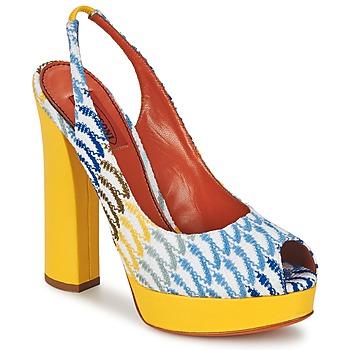 Παπούτσια Γυναίκα Σανδάλια / Πέδιλα Missoni XM005 Yellow / Μπλέ