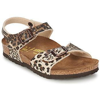 Παπούτσια Κορίτσι Σανδάλια / Πέδιλα Birkenstock RIO Leopard / Brown