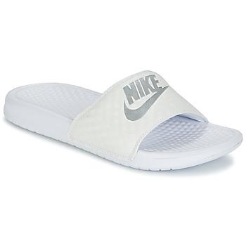 Παπούτσια Γυναίκα σαγιονάρες Nike BENASSI JUST DO IT W Άσπρο / Silver