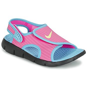 Παπούτσια Κορίτσι Σανδάλια / Πέδιλα Nike SUNRAY ADJUST 4 ροζ / μπλέ