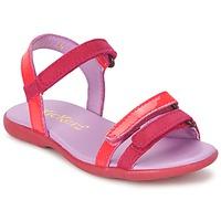 Παπούτσια Κορίτσι Σανδάλια / Πέδιλα Kickers ARCENCIEL FUCHSIA / ροζ / Fluo