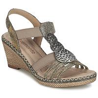Παπούτσια Γυναίκα Σανδάλια / Πέδιλα Remonte Dorndorf TINACE Gold / Argenté
