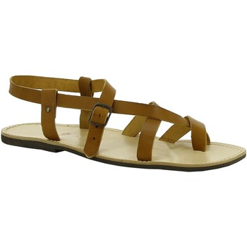 Παπούτσια Γυναίκα Σανδάλια / Πέδιλα Gianluca - L'artigiano Del Cuoio 530 U CUOIO LGT-GOMMA Cuoio