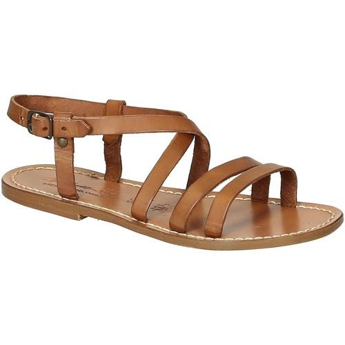 Παπούτσια Γυναίκα Σανδάλια / Πέδιλα Gianluca - L'artigiano Del Cuoio 531 D CUOIO CUOIO Cuoio