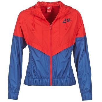 Υφασμάτινα Γυναίκα Αντιανεμικά Nike WINDRUNNER MARINE / Red