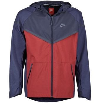 Υφασμάτινα Άνδρας Αντιανεμικά Nike TECH WINDRUNNER Red / MARINE / Grey