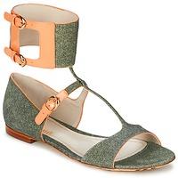 Παπούτσια Γυναίκα Σανδάλια / Πέδιλα John Galliano A65970 Green / Beige