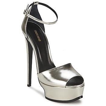 Παπούτσια Γυναίκα Σανδάλια / Πέδιλα Roberto Cavalli XPS260-PZ048 Grey / Argenté
