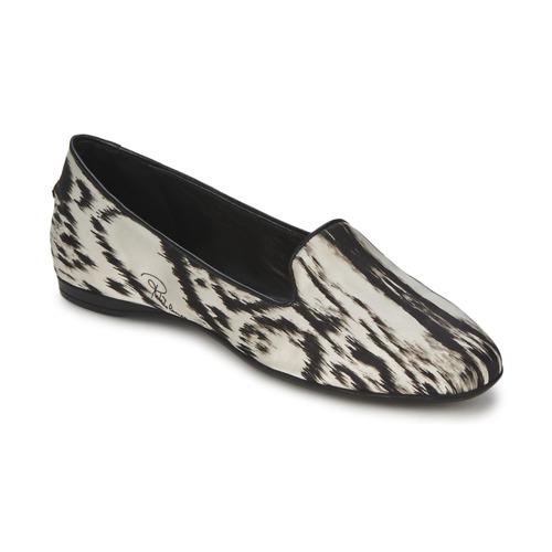 Παπούτσια Γυναίκα Μπαλαρίνες Roberto Cavalli XPS280-FLA35 Beige / Black