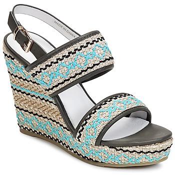 Παπούτσια Γυναίκα Σανδάλια / Πέδιλα Café Noir JABALA Carbone / Turquoise