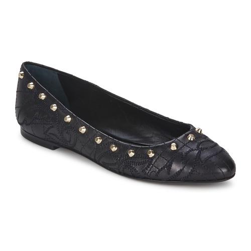 Παπούτσια Γυναίκα Μπαλαρίνες Versace DSL787C Black / Dore