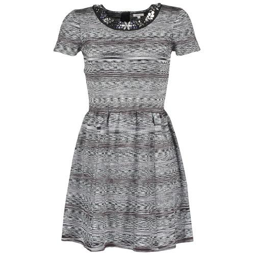 Υφασμάτινα Γυναίκα Κοντά Φορέματα Manoush BIJOU ROBE Black / Grey