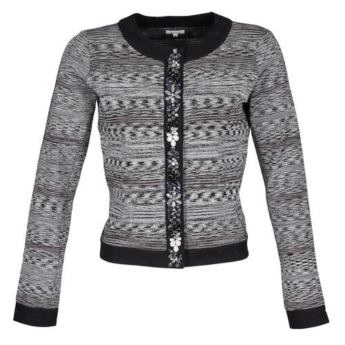 Υφασμάτινα Γυναίκα Σακάκι / Blazers Manoush BIJOU VESTE Black / Grey