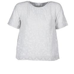 Υφασμάτινα Γυναίκα T-shirt με κοντά μανίκια Manoush COTONNADE SMOCKEE Άσπρο