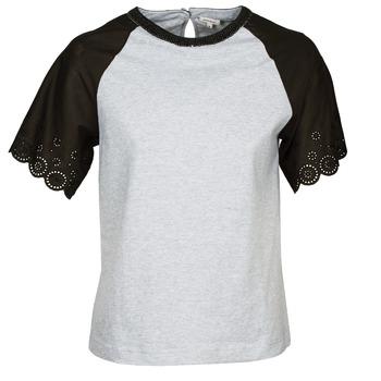 Υφασμάτινα Γυναίκα T-shirt με κοντά μανίκια Manoush FANCY Grey / Black