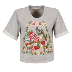 Υφασμάτινα Γυναίκα T-shirt με κοντά μανίκια Manoush GIPSY Grey