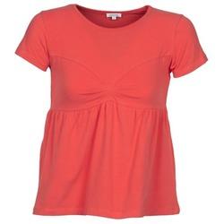 Υφασμάτινα Γυναίκα T-shirt με κοντά μανίκια Manoush MOLLETON Corail