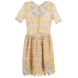 Υφασμάτινα Γυναίκα Κοντά Φορέματα Manoush ROSES Ecru