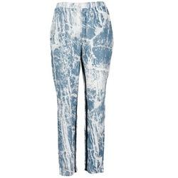 Υφασμάτινα Γυναίκα Παντελόνες / σαλβάρια Vila GRUNGE ME μπλέ / άσπρο