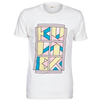 Υφασμάτινα Άνδρας T-shirt με κοντά μανίκια Kulte ANATOLE BLOCK άσπρο