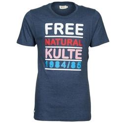 Υφασμάτινα Άνδρας T-shirt με κοντά μανίκια Kulte AUGUSTE FREE μπλέ