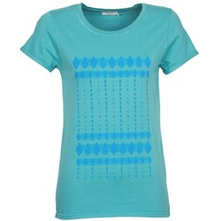 Υφασμάτινα Γυναίκα T-shirt με κοντά μανίκια Kulte JULIETTE BATIK Μπλέ
